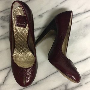 Dolce Vita Patent Leather Key Hole Heeled Shoe 7.5